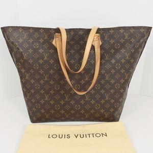 Louis Vuitton Monogram Canvas All In Shoulder GM Bag